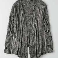 Don't Ask Why Waterfall Cardigan, Black