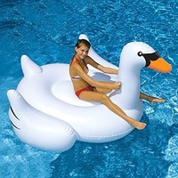 MarlJohns Giant Rideable Swan Inflatable Float Toy 75""