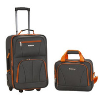 Fox Luggage F102-CHARCOAL 2 Pc Luggage Set