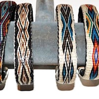 Product Details | Silver Tipped Hitched Horsehair Bracelets by Colorado Horsehair | Horsehair Bracelets | Brown Cow Sale Corral | The Brown Cow Saddle Blanket Company