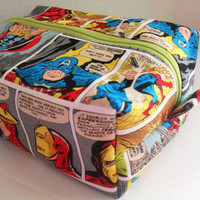 Large Marvel / Avengers Boxy Make Up / Toiletry Bag / Zipper Pouch