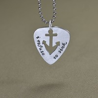Anchor guitar pick pendant refuse to sink
