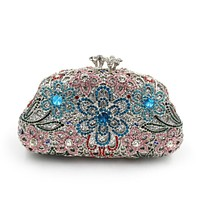 Full Diamand Rhinestone Metal Bridal Minaudiere Clutch Evening bag