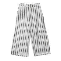 Vertical Striped Wide Leg Pants (Ivory) | STYLENANDA