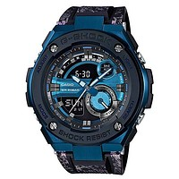 Casio Mens G-Shock G-Steel Watch - Ana-Digi - Blue & Black Dial - 200m - LED