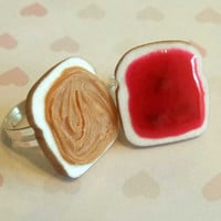 peanut butter and jelly best friend rings