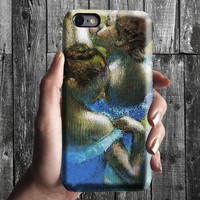 Blue Dancers - Edgar Degas iPhone Case 6, 6S, 6 Plus, 4S, 5S. Mobile Phone Cell. Art Painting. Gift Idea. Anniversary. Gift for him and her