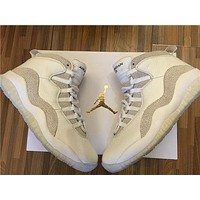 Air Jordan 10 Retro OVO Summit White/Metallic Gold-White