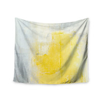 """CarolLynn Tice """"Stability"""" Yellow White Wall Tapestry"""