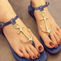 Fashion Navy Style Sandals Shoes