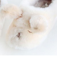 Adorable Plush Puppy Slippers