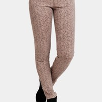 New World Paisley Ankle Zip Skinnies