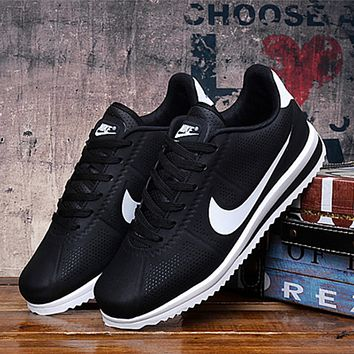 """NIKE"" Women Men Black Sneakers Running Sport Shoes"