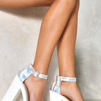 Cleated Holo 2 Part Heels