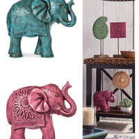 Decorative Bohemian Elephant Figurine
