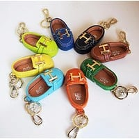 """Hermes"" Stylish Women Men Delicate Mini Cowhide Bag Small Shoes Hanging Drop Car Key Chain Bag Accessories"