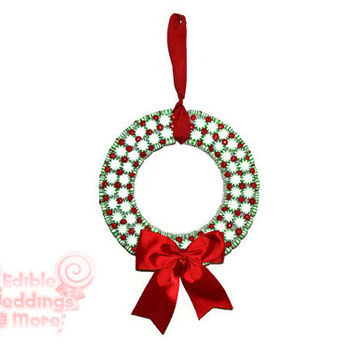 Candy Christmas Wreath, Peppermint Wreath, Christmas, Holiday, Indoor, Wreath, Candy Wreath, Christmas Wreath, Holiday Wreath, Gift, Xmas