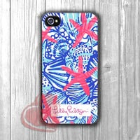 She She Shells Lilly Pulitzer Pattern-1nn for iPhone 4/4S/5/5S/5C/6/ 6+,samsung S3/S4/S5,samsung note 3/4