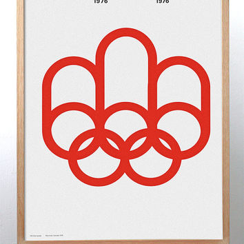 Montreal 1976 Olympics poster /// FREE SHIPPING WORLDWIDE