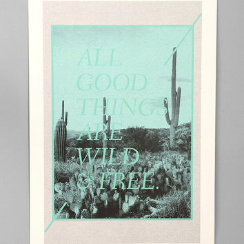 Urban Outfitters - Wesley Bird For Society6 Wild And Free Art Print