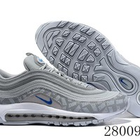 HCXX 19July 1037 Nike Air Max 97 Reflective Logo BQ3165-001 Retro Flyknit Breathable Running Shoes