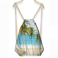 3D Summer Beach Drawstring Bag / Backpack