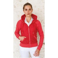 Lace Zip Up Hoodie - Mara by For Horses FINAL SALE