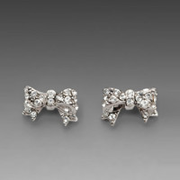 Juicy Couture Bows For A Starlet Pave Studs in Silver from REVOLVEclothing.com