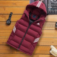 ADIDAS autumn and winter men's down jacket casual vest vest Red