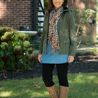 Doing It Right Military Jacket - Olive
