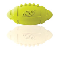 Nerf Products Gramercy Rubber Football Interactive Squeak Dog Chew Toy  7""