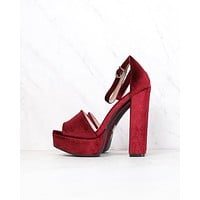 Chinese Laundry - Ace Velvet Platform Heel in More Colors