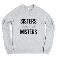 Sisters Before Misters-Unisex Heather Grey Sweatshirt