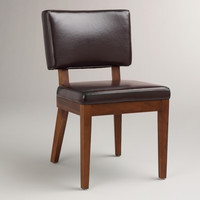 Espresso Bonded Leather Sophia Chairs, Set of 2 - World Market