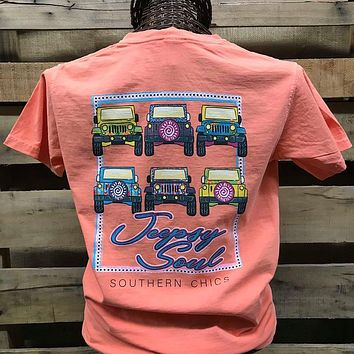 Southern Chics Jeepsy Soul Jeep Girlie Comfort Colors Bright T Shirt