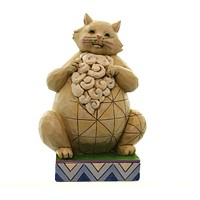 Jim Shore LARGE AND IN CHARGE Polyresin Pint Sized Lazy Cat 4047075
