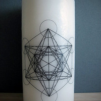 Metatron's Cube Sacred Geometry Candle