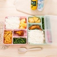 NEW!!!Japanese Bento Box For Food With Containers Microwave For Kids School Office Picnic Food Container