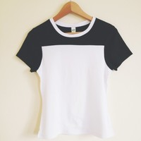 Elise Sporty Contrast Ringer Tee
