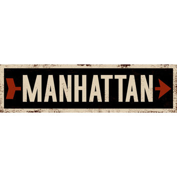 Personalized Black Right Arrow Street Sign Wood Sign
