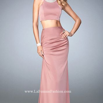 Two-Piece Jersey Gown by La Femme