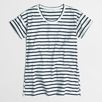 Factory side-slit tunic in stripe : Nautical Styles | J.Crew Factory