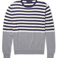 Etro - Striped Cotton and Cashmere-Blend Sweater | MR PORTER