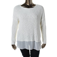 Two by Vince Camuto Womens Knit Dolman Sleeve Pullover Sweater