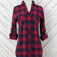 Altar'd State Bountiful Brilliance Plaid Top   Altar'd State