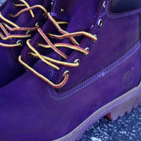 FREE SHIPPING Custom Purple Timberlands