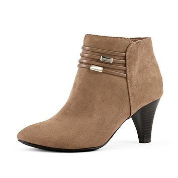 Women's Ruby Booties Taupe-Wide