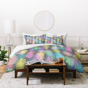 Lisa Argyropoulos Feathered Spring Gray Duvet Cover
