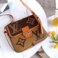 LV classic old flower retro small square bag shoulder bag