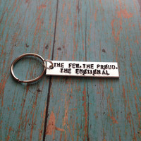The Few The Proud The Emotional Twenty One Pilots Hand Stamped Key Chain